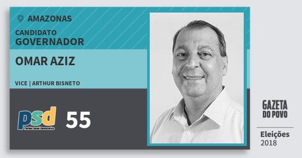 Santinho Omar Aziz 55 (PSD) Governador | Amazonas | Eleições 2018