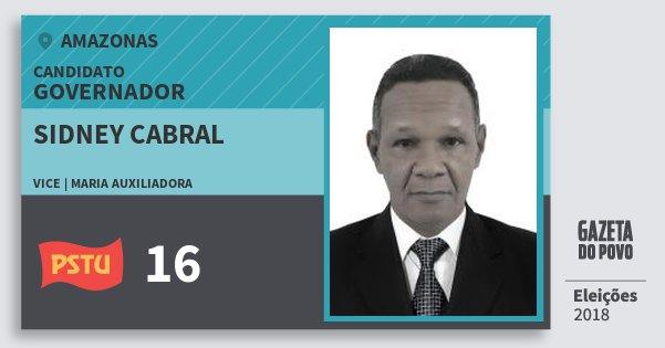 Santinho Sidney Cabral 16 (PSTU) Governador | Amazonas | Eleições 2018