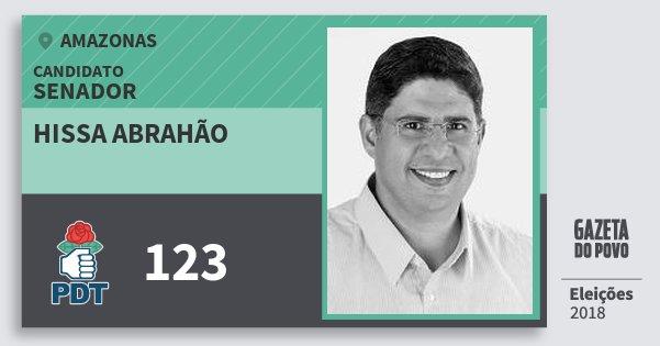 Santinho Hissa Abrahão 123 (PDT) Senador | Amazonas | Eleições 2018