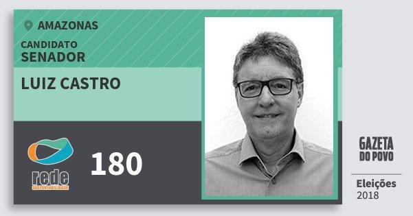 Santinho Luiz Castro 180 (REDE) Senador   Amazonas   Eleições 2018