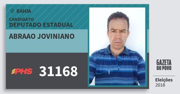 Santinho Abraao Joviniano 31168 (PHS) Deputado Estadual | Bahia | Eleições 2018