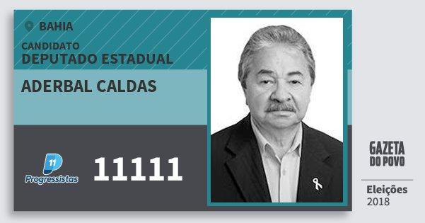Santinho Aderbal Caldas 11111 (PP) Deputado Estadual | Bahia | Eleições 2018