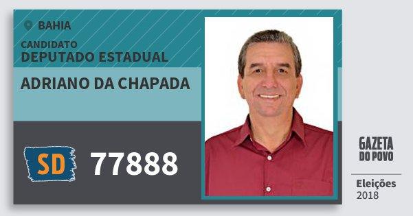 Santinho Adriano da Chapada 77888 (SOLIDARIEDADE) Deputado Estadual | Bahia | Eleições 2018