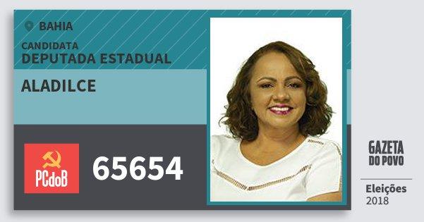 Santinho Aladilce 65654 (PC do B) Deputada Estadual | Bahia | Eleições 2018