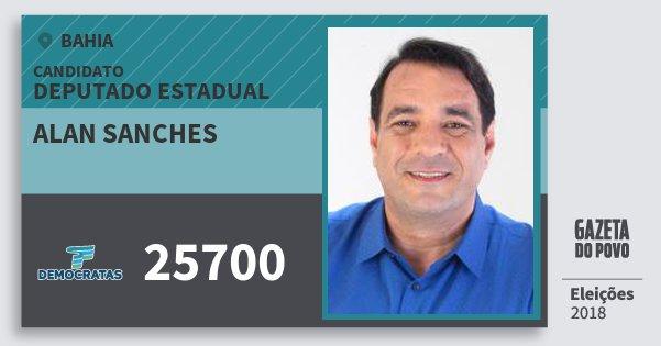 Santinho Alan Sanches 25700 (DEM) Deputado Estadual | Bahia | Eleições 2018