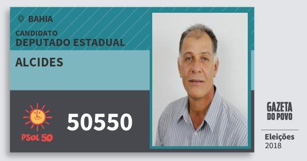 Santinho Alcides 50550 (PSOL) Deputado Estadual | Bahia | Eleições 2018