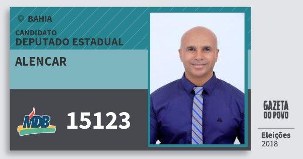 Santinho Alencar 15123 (MDB) Deputado Estadual | Bahia | Eleições 2018