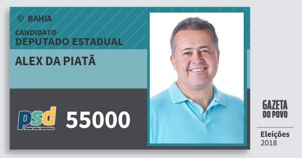 Santinho Alex da Piatã 55000 (PSD) Deputado Estadual | Bahia | Eleições 2018
