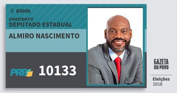 Santinho Almiro Nascimento 10133 (PRB) Deputado Estadual | Bahia | Eleições 2018