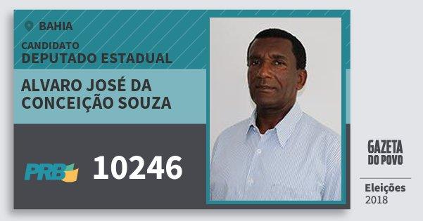 Santinho Alvaro José da Conceição Souza 10246 (PRB) Deputado Estadual | Bahia | Eleições 2018