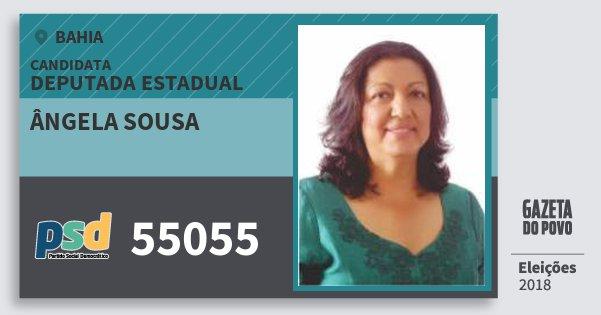 Santinho Ângela Sousa 55055 (PSD) Deputada Estadual | Bahia | Eleições 2018
