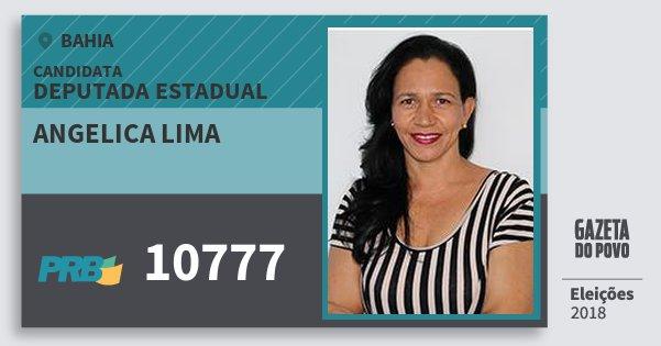 Santinho Angelica Lima 10777 (PRB) Deputada Estadual | Bahia | Eleições 2018