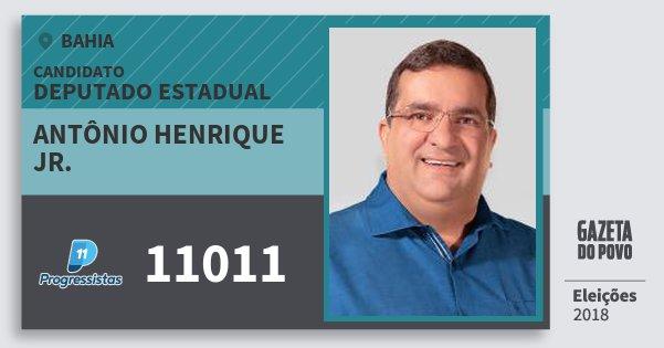 Santinho Antônio Henrique Jr. 11011 (PP) Deputado Estadual | Bahia | Eleições 2018