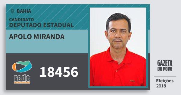Santinho Apolo Miranda 18456 (REDE) Deputado Estadual | Bahia | Eleições 2018