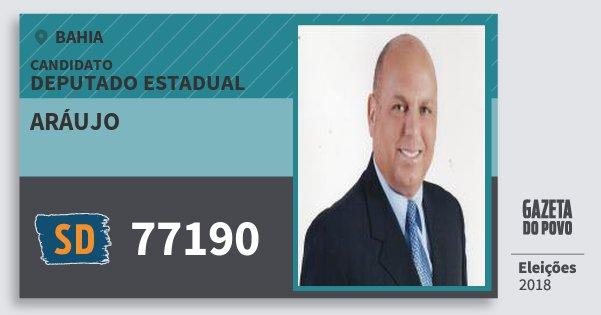 Santinho Aráujo 77190 (SOLIDARIEDADE) Deputado Estadual | Bahia | Eleições 2018