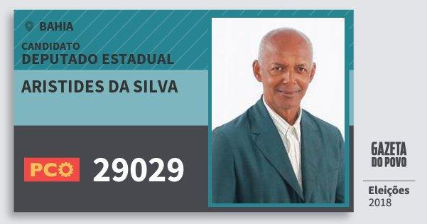 Santinho Aristides da Silva 29029 (PCO) Deputado Estadual | Bahia | Eleições 2018
