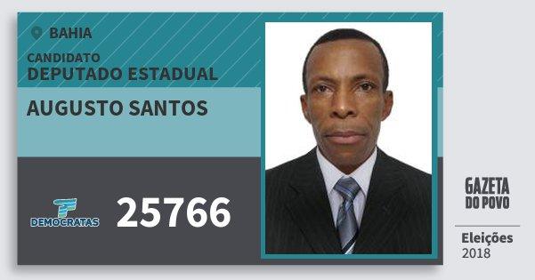 Santinho Augusto Santos 25766 (DEM) Deputado Estadual | Bahia | Eleições 2018