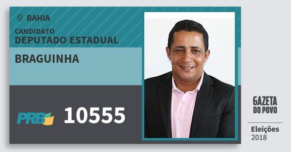 Santinho Braguinha 10555 (PRB) Deputado Estadual | Bahia | Eleições 2018