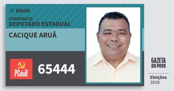 Santinho Cacique Aruã 65444 (PC do B) Deputado Estadual | Bahia | Eleições 2018