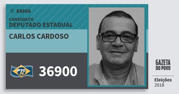 Santinho Carlos Cardoso 36900 (PTC) Deputado Estadual | Bahia | Eleições 2018