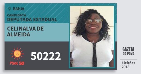 Santinho Celinalva de Almeida 50222 (PSOL) Deputada Estadual | Bahia | Eleições 2018