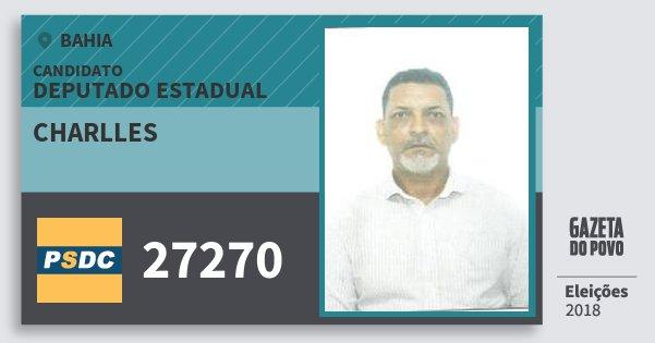 Santinho Charlles 27270 (DC) Deputado Estadual | Bahia | Eleições 2018