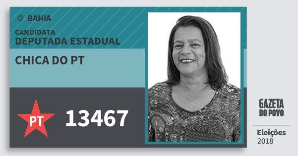 Santinho Chica do Pt 13467 (PT) Deputada Estadual | Bahia | Eleições 2018