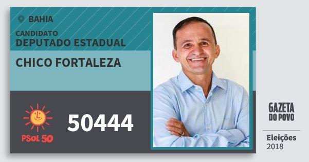 Santinho Chico Fortaleza 50444 (PSOL) Deputado Estadual | Bahia | Eleições 2018