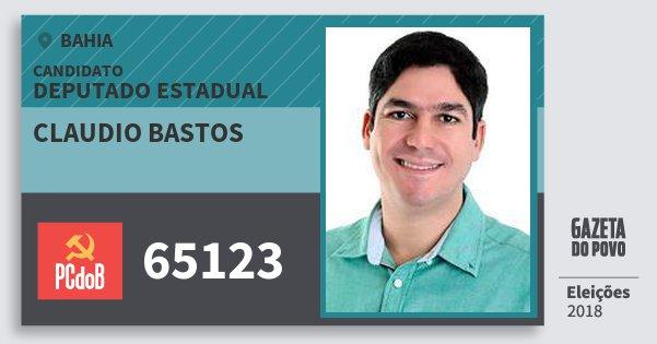 Santinho Claudio Bastos 65123 (PC do B) Deputado Estadual | Bahia | Eleições 2018