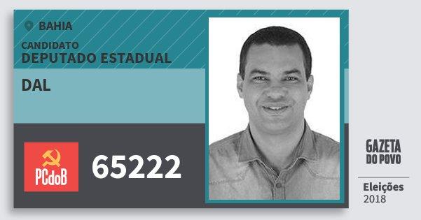 Santinho dal 65222 (PC do B) Deputado Estadual | Bahia | Eleições 2018