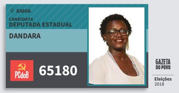 Santinho Dandara 65180 (PC do B) Deputada Estadual | Bahia | Eleições 2018