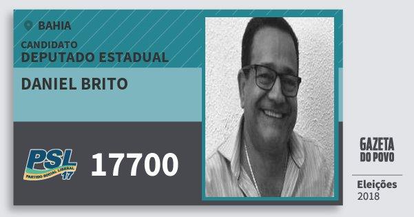 Santinho Daniel Brito 17700 (PSL) Deputado Estadual | Bahia | Eleições 2018