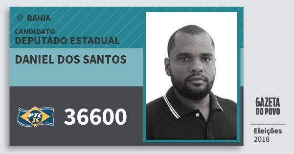Santinho Daniel dos Santos 36600 (PTC) Deputado Estadual | Bahia | Eleições 2018