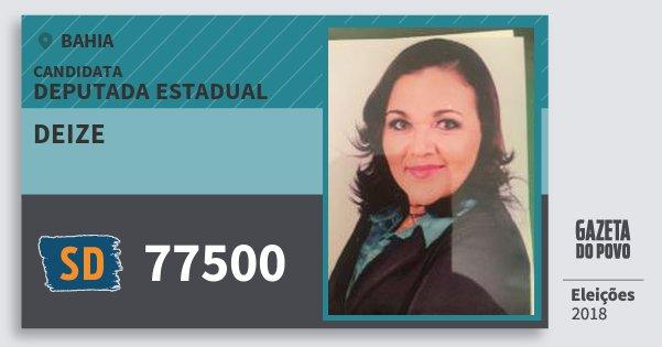 Santinho Deize 77500 (SOLIDARIEDADE) Deputada Estadual | Bahia | Eleições 2018