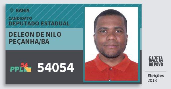 Santinho Deleon de Nilo Peçanha/ba 54054 (PPL) Deputado Estadual   Bahia   Eleições 2018