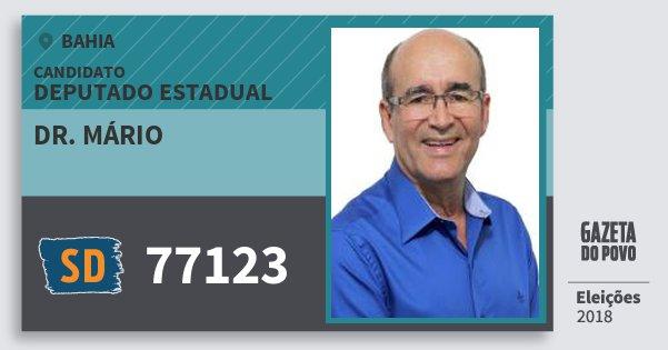 Santinho Dr. Mário 77123 (SOLIDARIEDADE) Deputado Estadual | Bahia | Eleições 2018