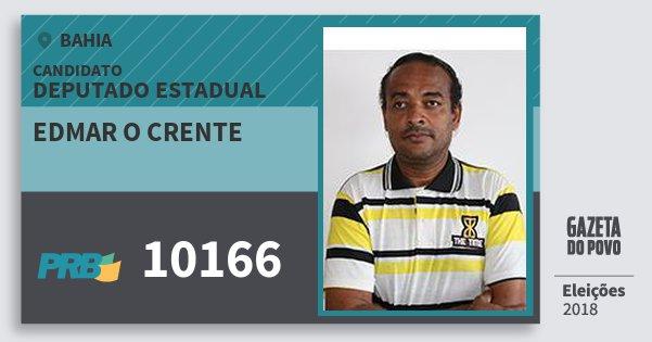 Santinho Edmar O Crente 10166 (PRB) Deputado Estadual | Bahia | Eleições 2018