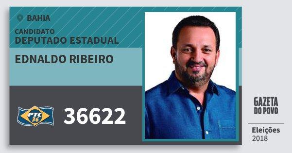 Santinho Ednaldo Ribeiro 36622 (PTC) Deputado Estadual | Bahia | Eleições 2018