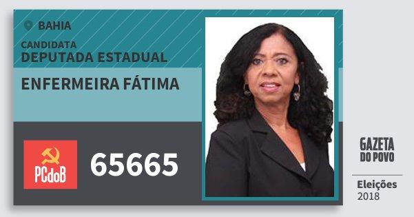 Santinho Enfermeira Fátima 65665 (PC do B) Deputada Estadual | Bahia | Eleições 2018