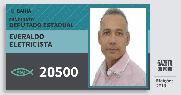 Santinho Everaldo Eletricista 20500 (PSC) Deputado Estadual | Bahia | Eleições 2018