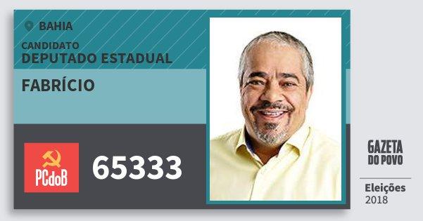 Santinho Fabrício 65333 (PC do B) Deputado Estadual   Bahia   Eleições 2018