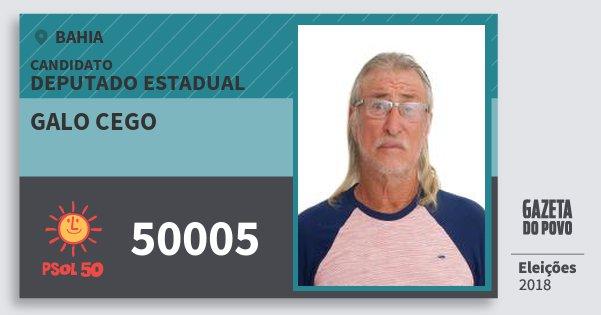 Santinho Galo Cego 50005 (PSOL) Deputado Estadual | Bahia | Eleições 2018