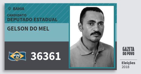 Santinho Gelson do Mel 36361 (PTC) Deputado Estadual | Bahia | Eleições 2018