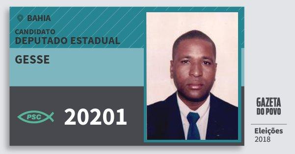 Santinho Gesse 20201 (PSC) Deputado Estadual | Bahia | Eleições 2018