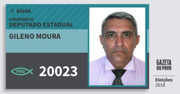 Santinho Gileno Moura 20023 (PSC) Deputado Estadual | Bahia | Eleições 2018