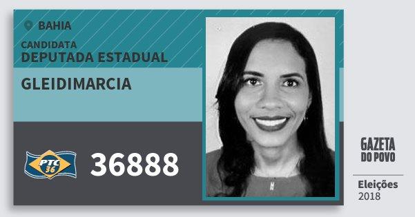 Santinho Gleidimarcia 36888 (PTC) Deputada Estadual | Bahia | Eleições 2018