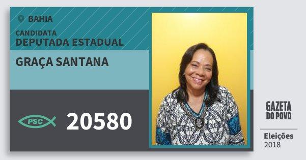 Santinho Graça Santana 20580 (PSC) Deputada Estadual | Bahia | Eleições 2018