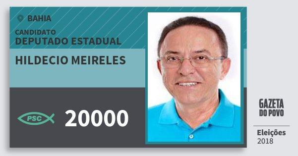 Santinho Hildecio Meireles 20000 (PSC) Deputado Estadual | Bahia | Eleições 2018