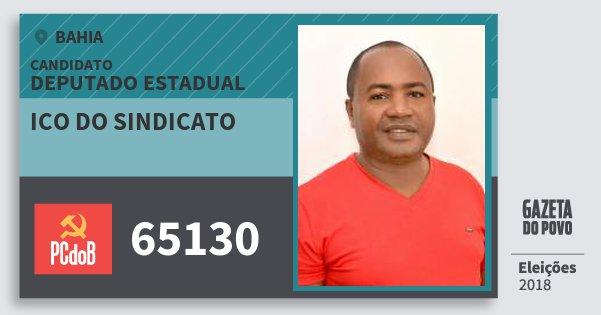 Santinho Ico do Sindicato 65130 (PC do B) Deputado Estadual | Bahia | Eleições 2018