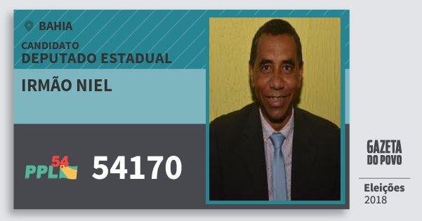 Santinho Irmão Niel 54170 (PPL) Deputado Estadual | Bahia | Eleições 2018